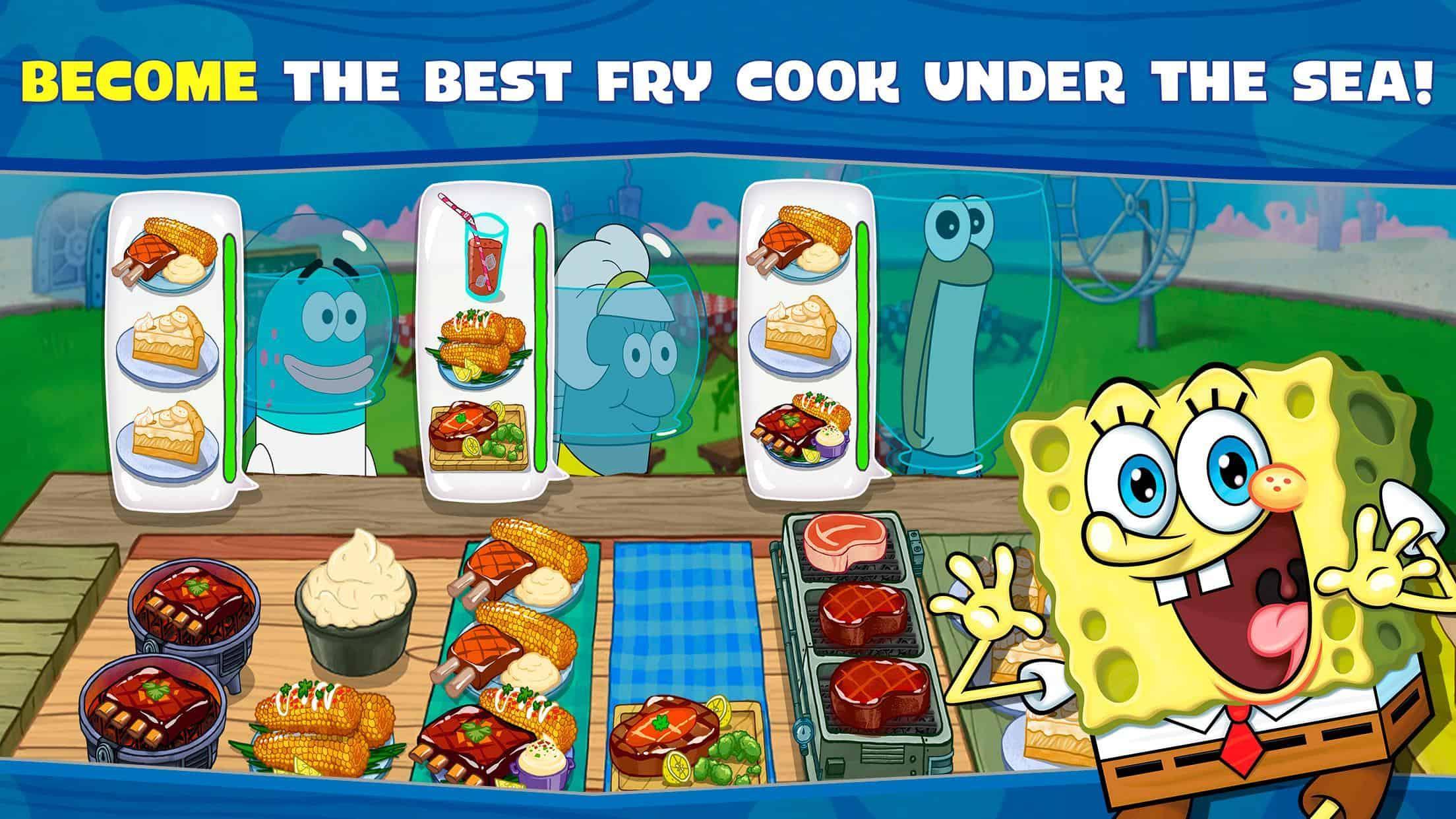 لعبة سبونج بوب للطبخ SpongeBob: Krusty Cook-Off