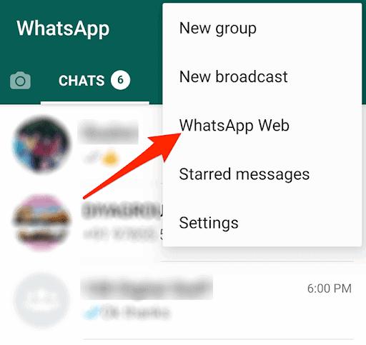 خطوات فتح تطبيق واتس اب ويب من الهاتف