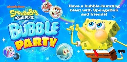 تحميل لعبة SpongeBob Bubble Party افضل لعبة سبونج بوب سيجا.