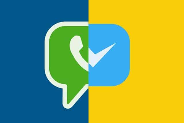 الميزة الخامسة : امكانية ارسال رسائل من واتساب الي ماسنجر والعكس.
