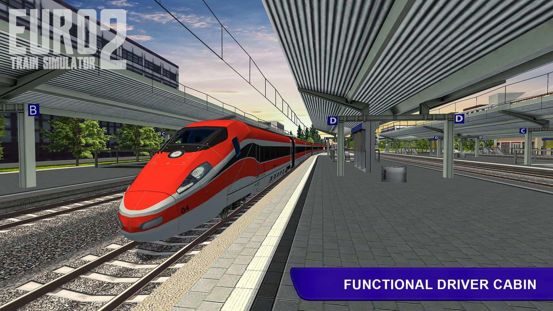 تحميل لعبة القطار Euro Train Simulator 2 للاندرويد