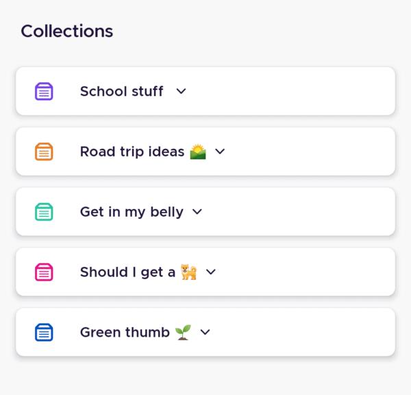 خاصية الـ Collections لتنظيم الروابط والصفحات التي تزورها