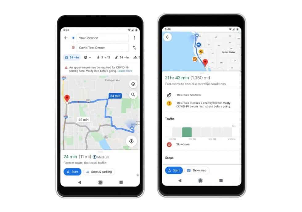كيف ستعمل ميزة معرفة مدي انشغال الاماكن في جوجل ماب