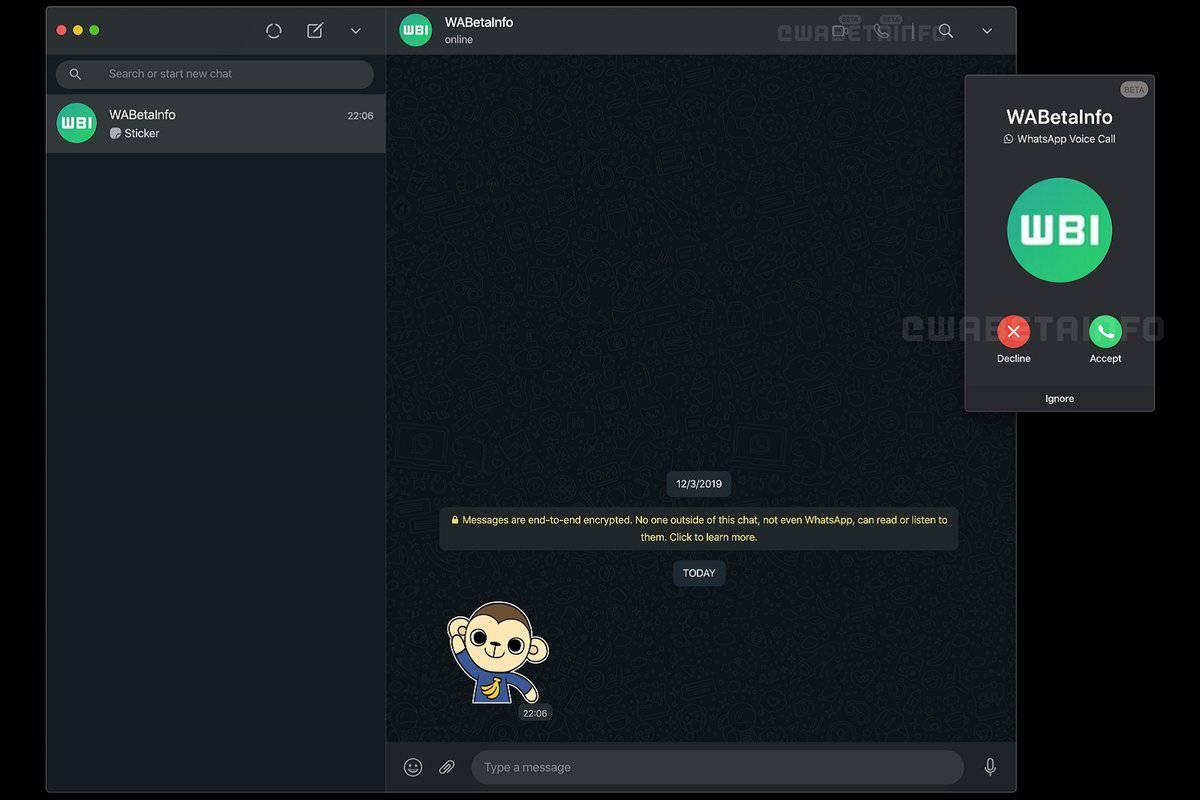 تحديث برنامج واتس اب ويب بميزة اجراء المكالمات من خلال الحاسوب.