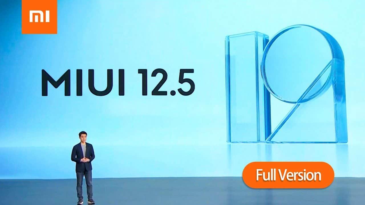 موعد وصول تحديث شاومي MIUI 12.5 للهواتف المحمولة.
