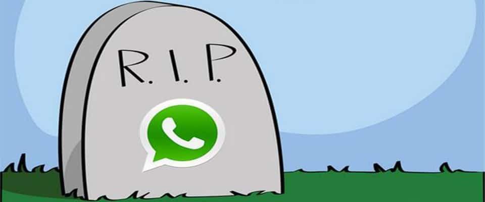 ايقاف تطبيق واتساب علي اكثر من مليون هاتف حول العالم.