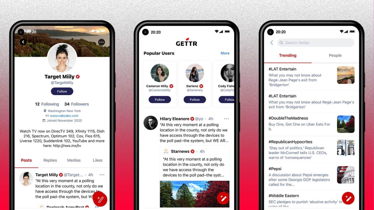 """اطلاق موقع تواصل اجتماعي جديد """"Gettr"""" لمنافسة فيسبوك وتويتر"""